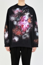 2020 S/S LAD MUSICIAN LOOP BACK CLOTH INKJET FLOWER CREW NECK PULLOVER