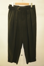 2018 S/S GalaabenD ジョーゼットストレッチwide pants BLACK