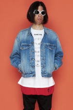 2020 S/S NUMBER (N)INE BIG SHOULDER STRETCH DENIM JACKET(DAMAGE)
