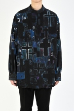 2020 S/S LAD MUSICIAN DECHINE INKJET CROSS BACK-FRONT SHIRT