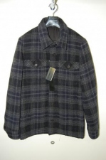 LITHIUM HOMME C.P.O. JACKET 〈MIX-CHECK WOOL〉 NAVY