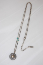 2012 S/A idealism sound ネックレス12012 SILVER×TURQUOIS