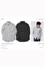 2016 S/S MARBLES L/S Star Printed Shirts WHITE
