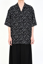 2019 S/S LAD MUSICIAN DECHINE INKJET HAZED FLOWER OPEN COLLAR BIG SHIRT