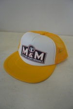 2018 A/W M&M PRINT MESH CAP YELLOW