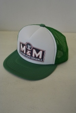 2018 A/W M&M PRINT MESH CAP GREEN