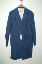 2013 A/W YAECA SHOP COAT indigo-stripe