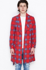 2016 A/W NUMBER (N)INE GOWN_FLANNEL CHECK RED