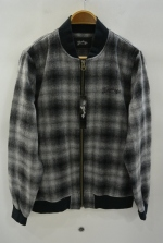2016 A/W MARBLES WOOL CHECK BOMBER SHIRT BLACK
