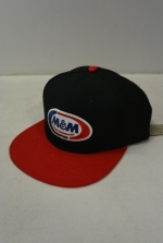 2018 A/W M&M SNAPBACK BB CAP BLACK+RED