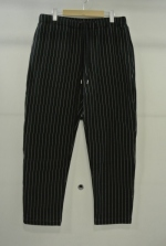 2014 A/W JAMA RICO QUILTING STRIPE KNIT PANTS BLACK