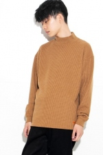 2020 A/W NUMBER (N)INE LOGO EMBROIDERED MOCK NECK WAFFLE SWEATER