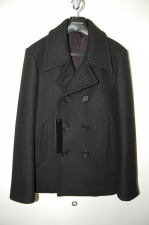 2013 A/W LITHIUM HOMME 新型 HEAVY MELTON SHORT PEA COAT BLACK