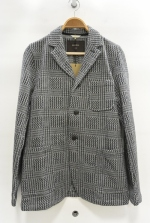 2015 A/W JAMA RICO Glen Check C/S Jacket GREY