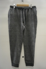 2015 A/W JAMA RICO Glen Check C/S Rib Pants GREY
