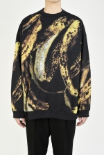 2020 A/W LAD MUSICIAN INKJET BANANA CREW NECK BIG PULLOVER